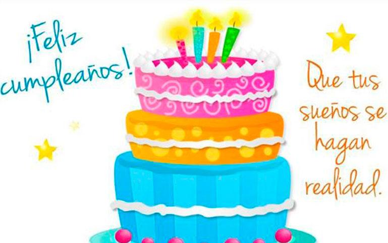 Feliz Cumpleaños. Que tus sueños se hagan realidad
